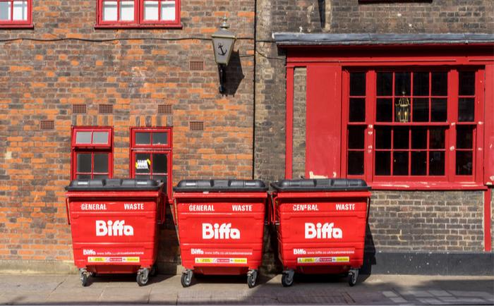 Biffa bins on a London street