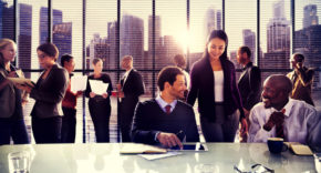 Diverse group of businesspeople in meeting
